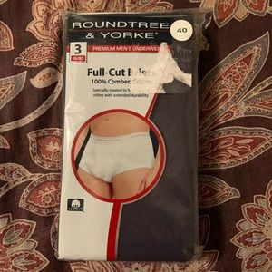 NWT Roundtree & Yorke 3-Pack Full Cut Briefs